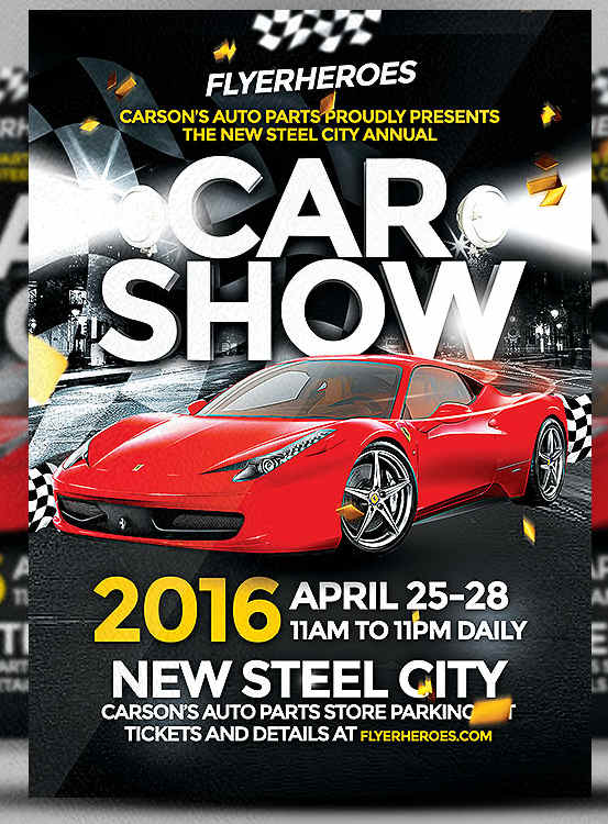 Car Show Flyer Templates Free Images PSD Documents – Car Show Flyer Template