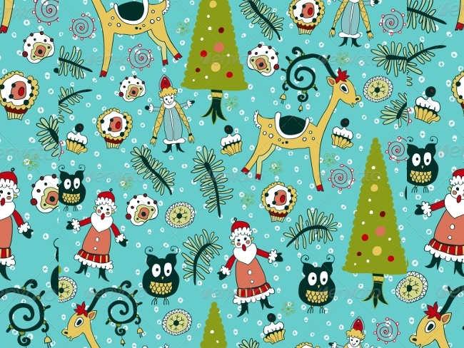 animal-background-christmas-textures