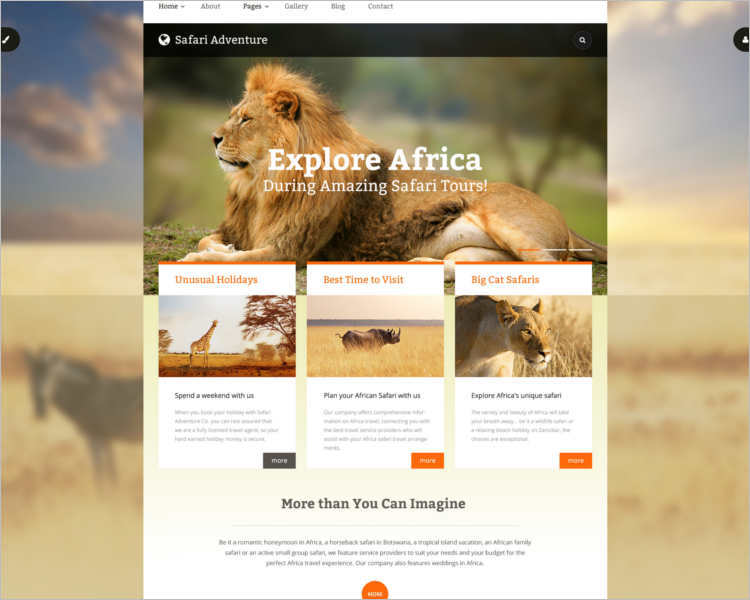 animal-safari-adventure-theme-template