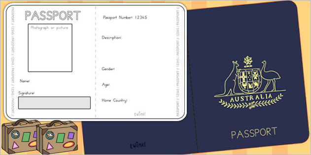 24 passport templates free pdf word psd designs for Printable passport template for kids