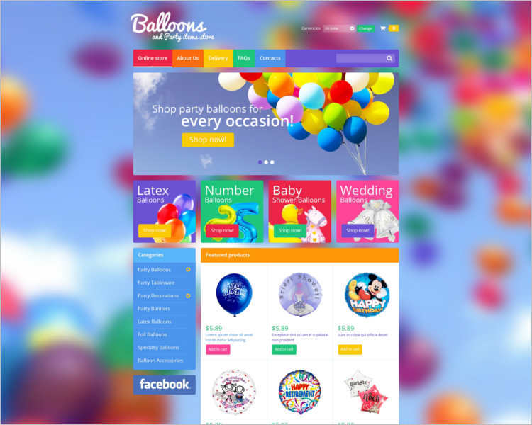 balloons-party-event-website-template