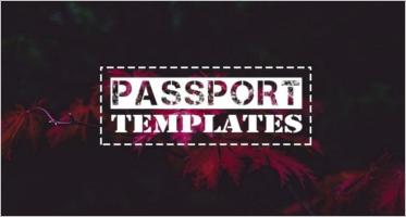 24+ Free Printable Passport Templates