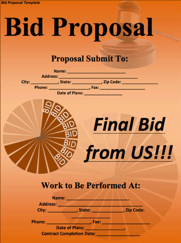 128 Business Proposal Template Word Sample PDF Format – Free Business Proposal Templates