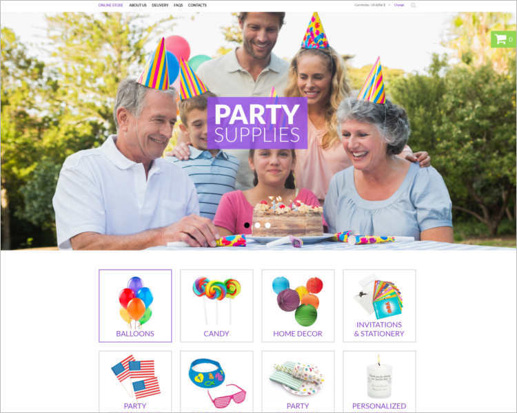 birthday-event-website-template
