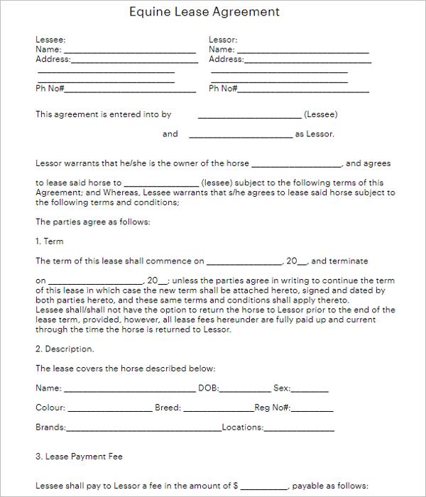 free rental agreement form pdf