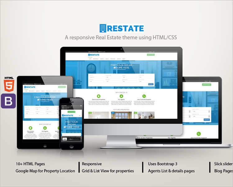 bootstrap-real-estate-agency-html5-website-template