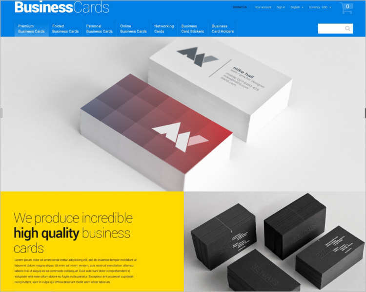business-card-prestashop-theme