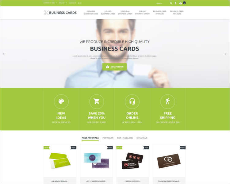 business-cards-store-prestashop-theme-template