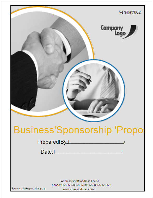 business-sponsorship-proposal-template