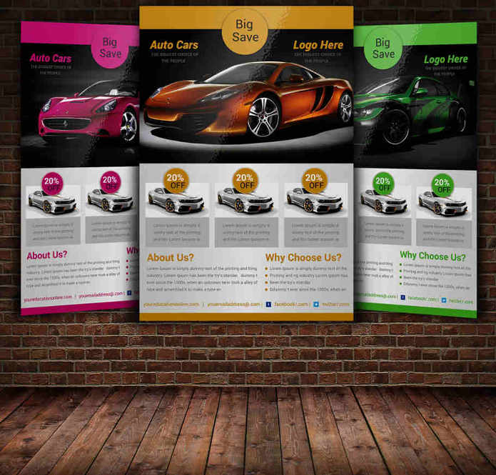 car-flyer-exhibition-show