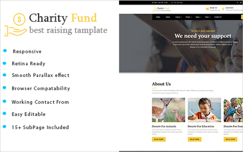 Charity Fund HTML Template