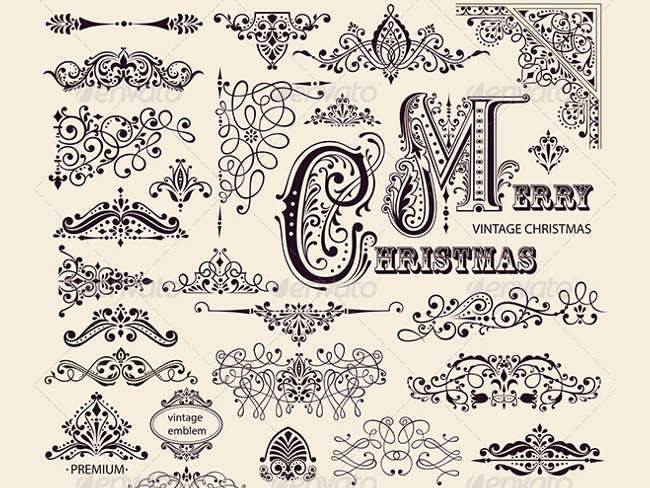 christmas-calligraphic-ornaments-designs