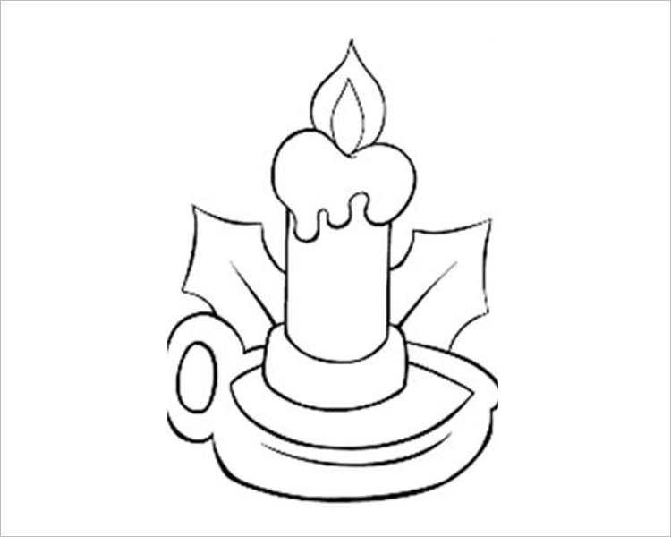 Christmas Candle Templates For Print