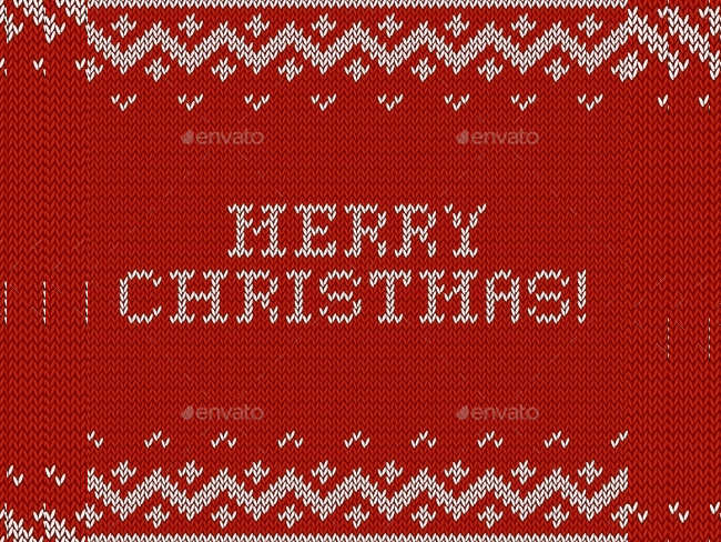 christmas-card-with-fabric-texture
