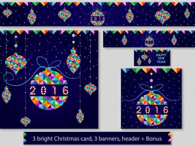 christmas-geometric-greeting-card