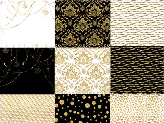 christmas-gold-decorative-patterned-paper-ideas