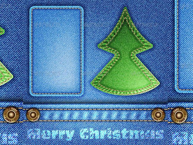 christmas-jeans-cloth-texture