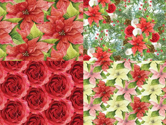 christmas-paper-flower-pattern-decorative-ideas