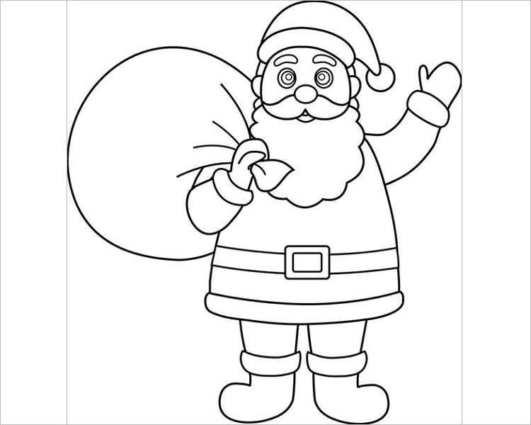 christmas-santa-with-gifts-template