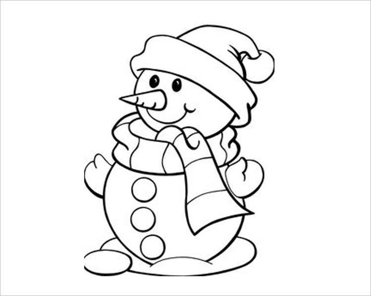 Christmas Snow bear Template For Print