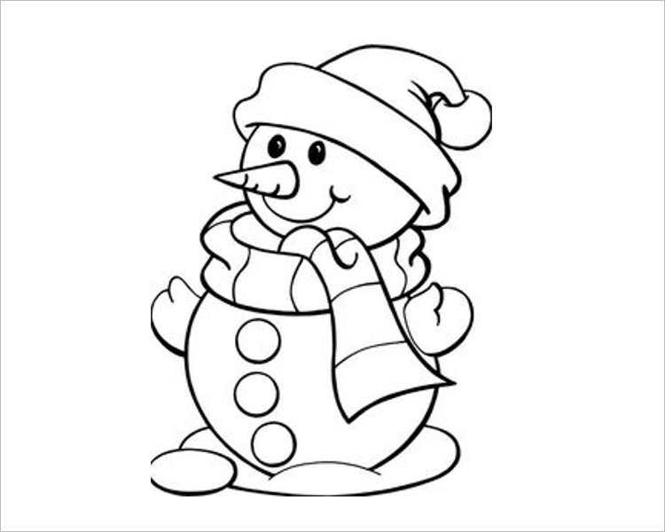 Christmas Snow bear Template For Print
