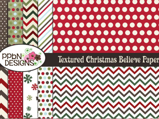 christmas-textured-believe-papers