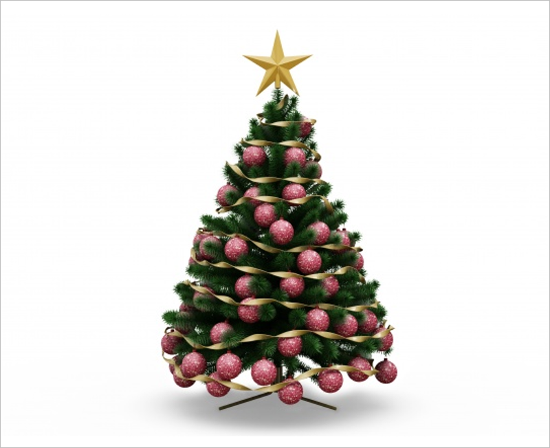 Christmas Tree Mockup Free Design