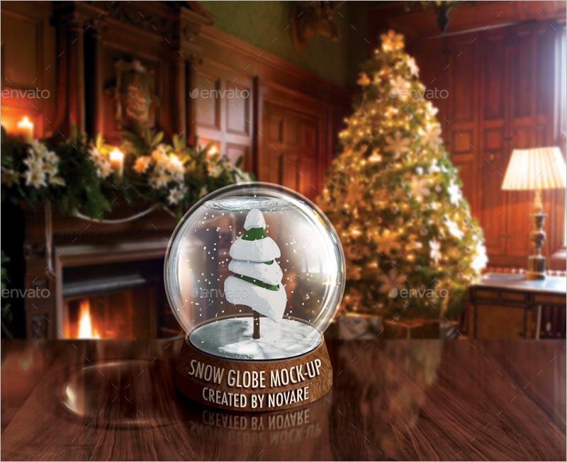 Christmas Tree Mockup Print Design