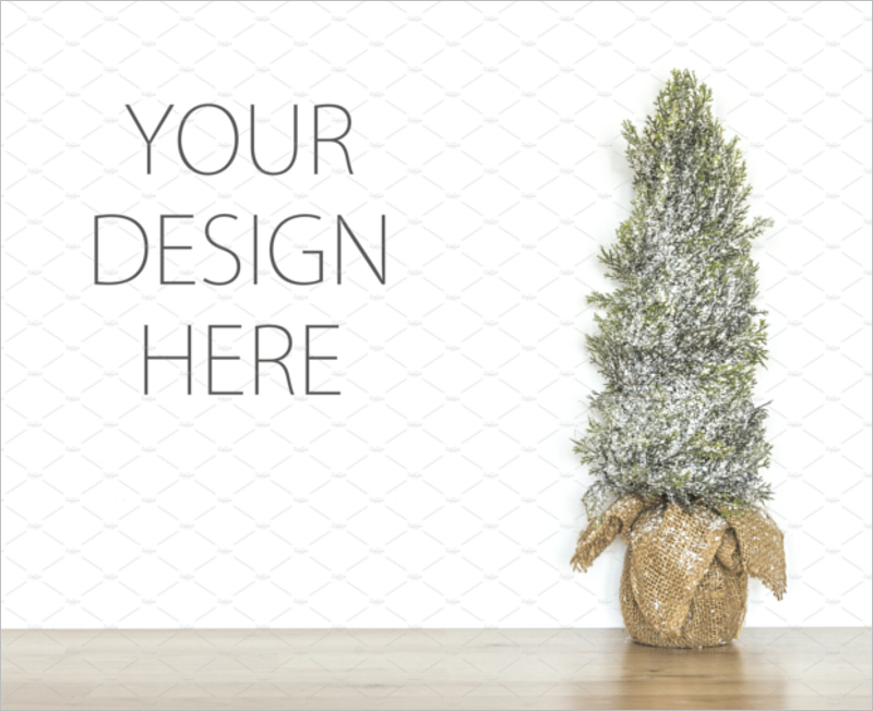 Christmas Tree Mockup Vector Design