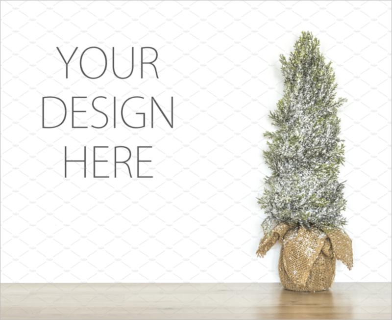 Christmas Tree Mockup Vector Design