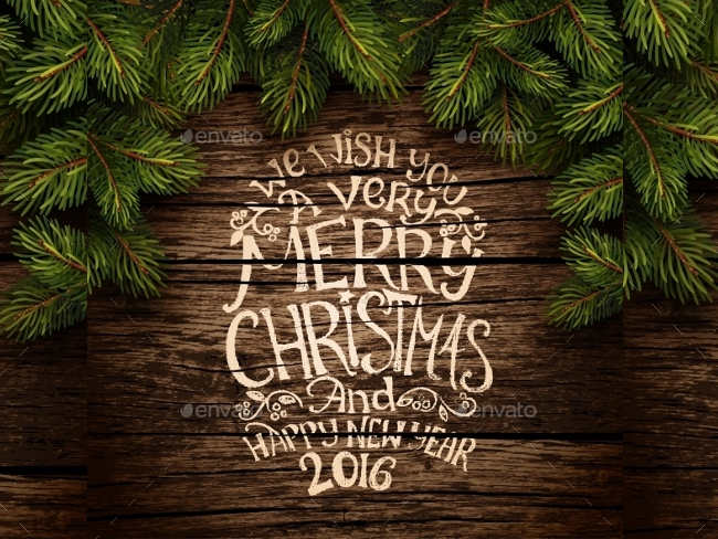 christmas-typography-wooden-texture