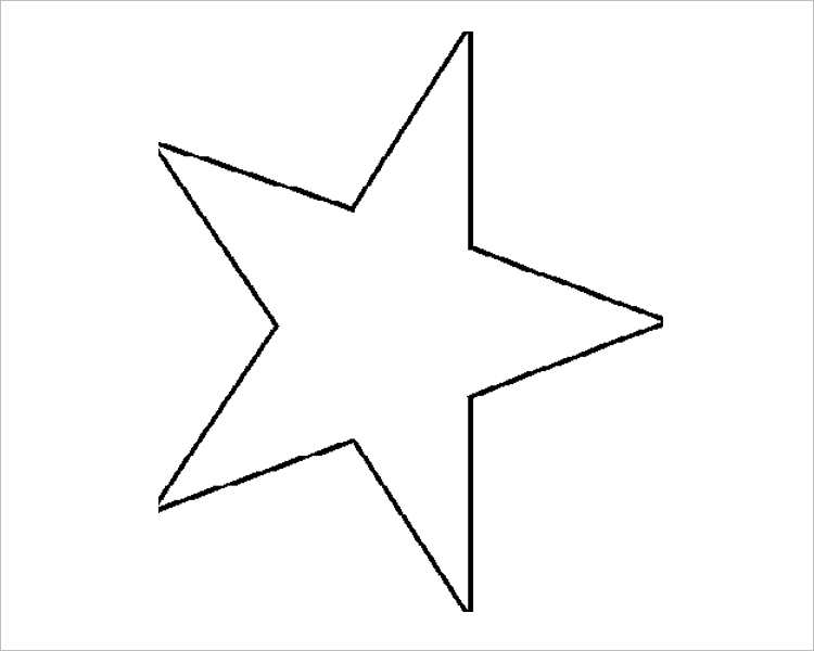 Christmas star Templates For Print