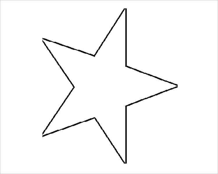 Christmas star Templates For Print