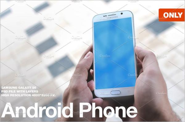 Clean Samsung Mobile Mockup Design