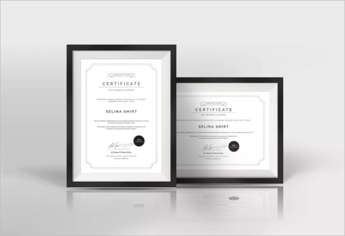 Clean Stock Certificate Template