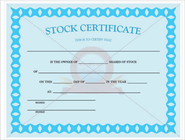 common stock certificate template word pdf