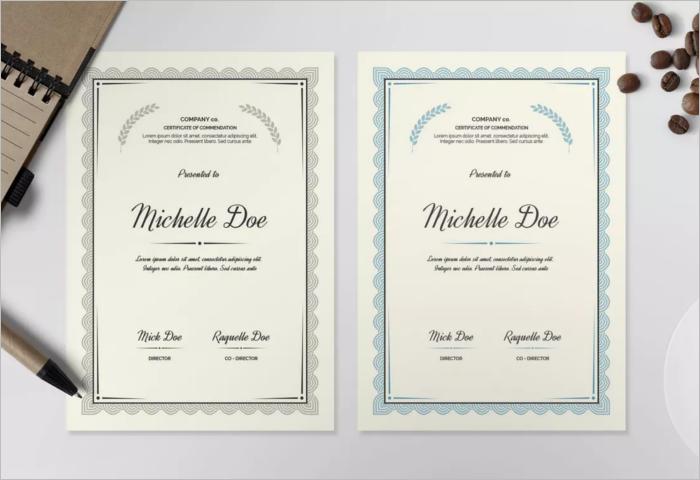 Company Stock Certificate Template