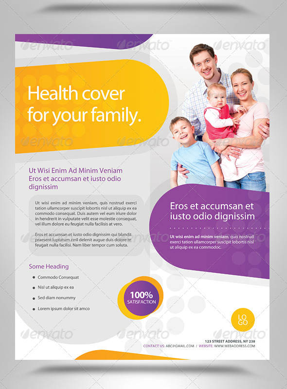 Insurance Flyers Templates  Free  Premium Templates  Creative