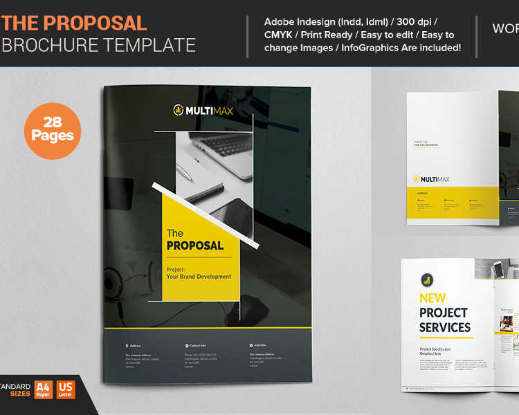 128 business proposal template free word pdf ppt doc formats corporate business proposal template flashek Images