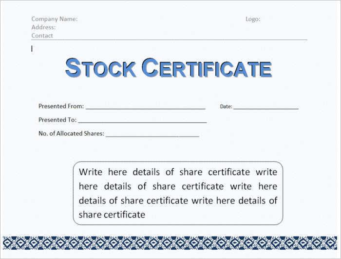 corporate-stock-certificate-templates