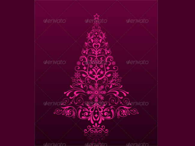 cursive-christmas-tree-ornaments-design