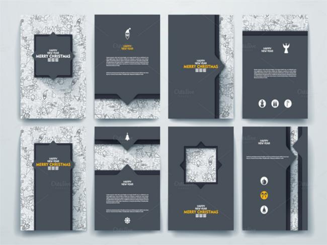 decorative-christmas-scrapbook-brochure