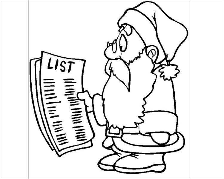download-christmas-santa-checking-very-long-list