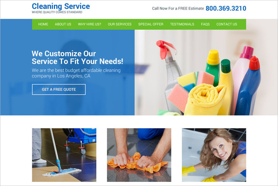 Download Landing Page website template