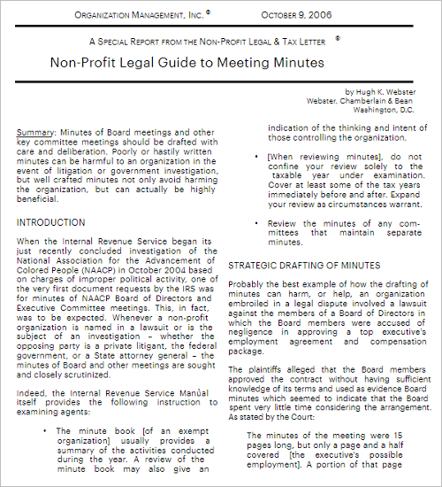Editable Meeting Minutes Template