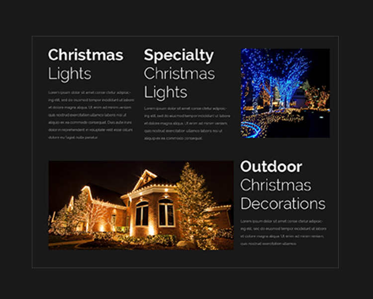 Elegant Christmas Website Templates