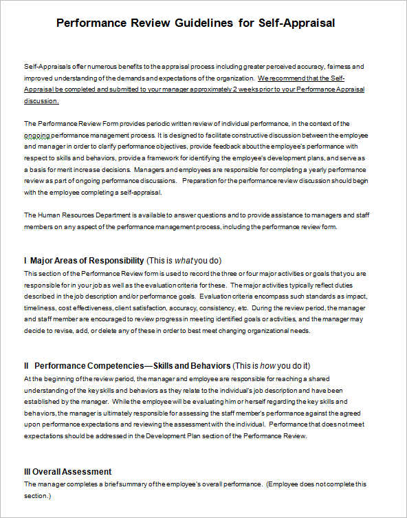 Employee Performance Guidelines Form Employee Performance Guidelines Form  Word Button  Employee Review Form Free Download