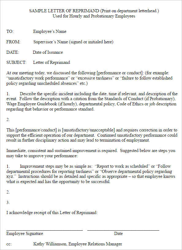 employee-reprimand-letter-template