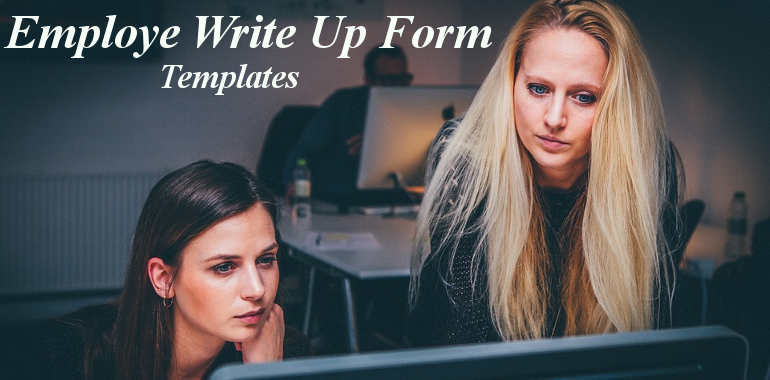 Employee Write Up Form Template