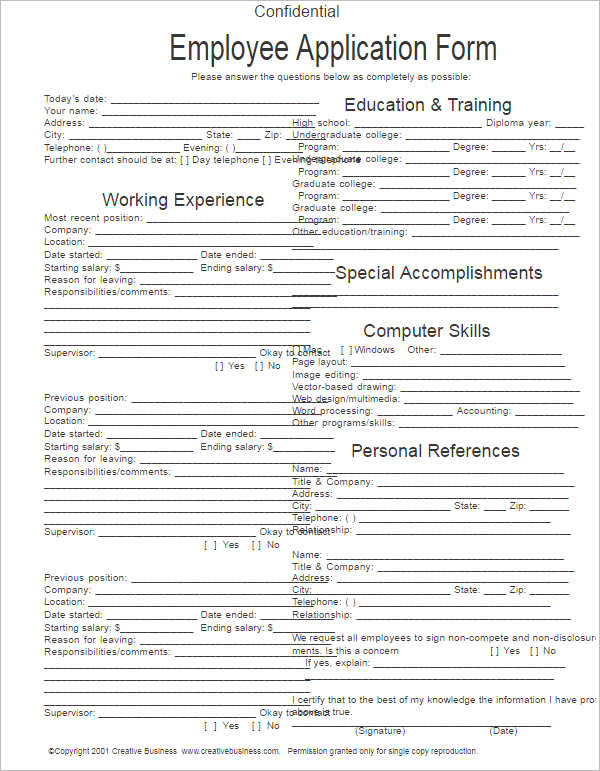 Business Application Form Business Application Form Free Business